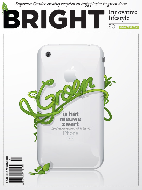 Cover design for Bright magazine based in holland by Dani Montesinos