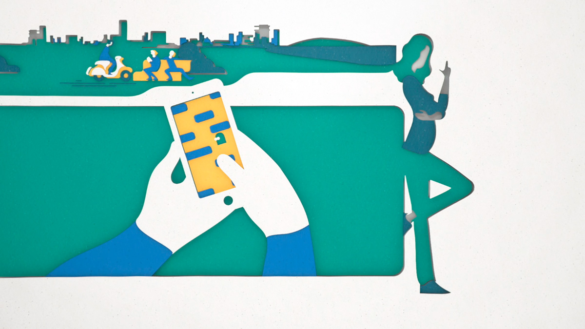 illustrations from ABN AMRO by Dani Montesinos