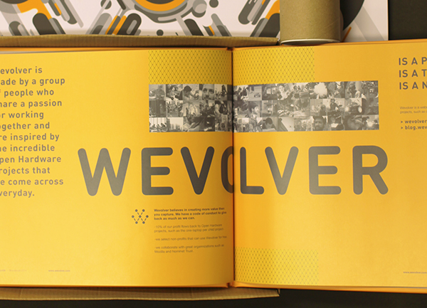 logo and visual identity for Wevolver by Dani Montesinos